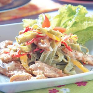 茴香豬柳菠菜麵