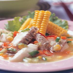 玉米燴魚條