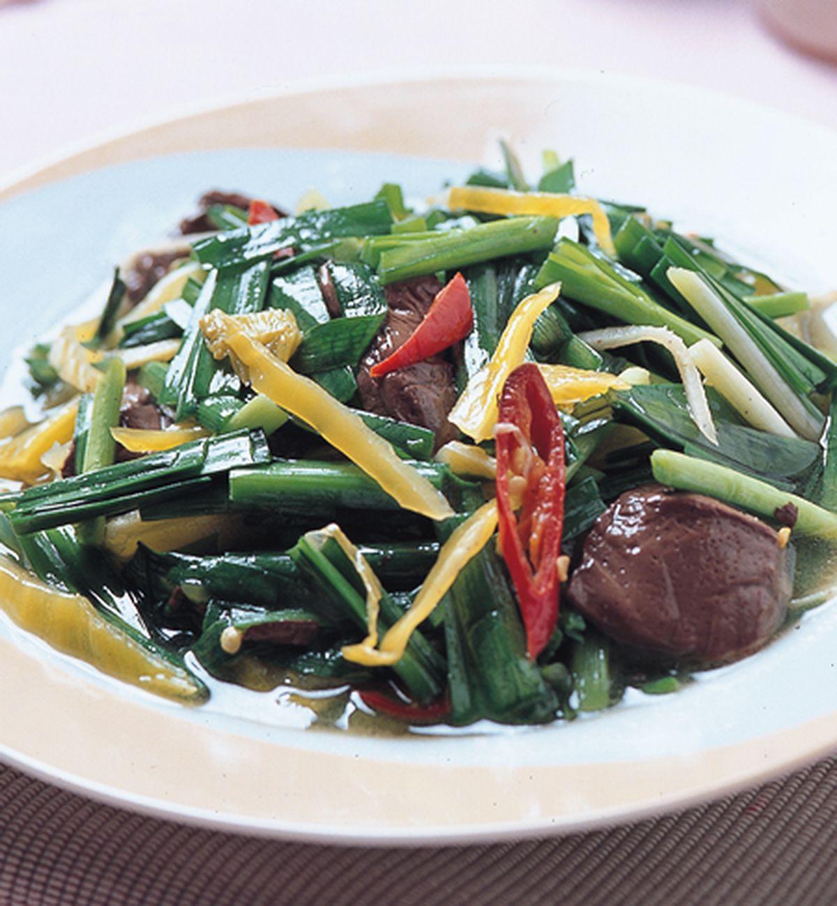 食譜:鴨紅炒韭菜