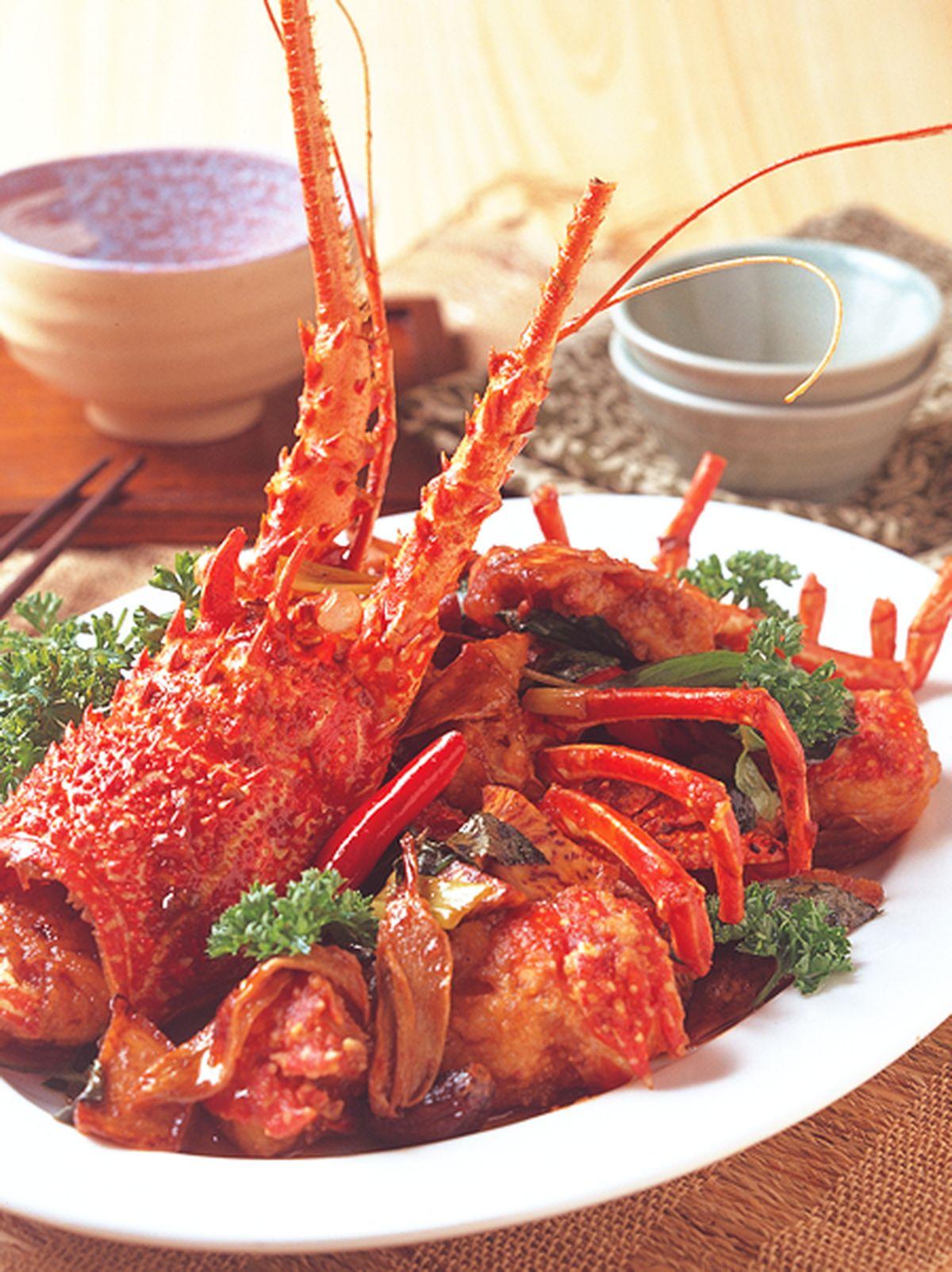 食譜:三杯醬龍蝦