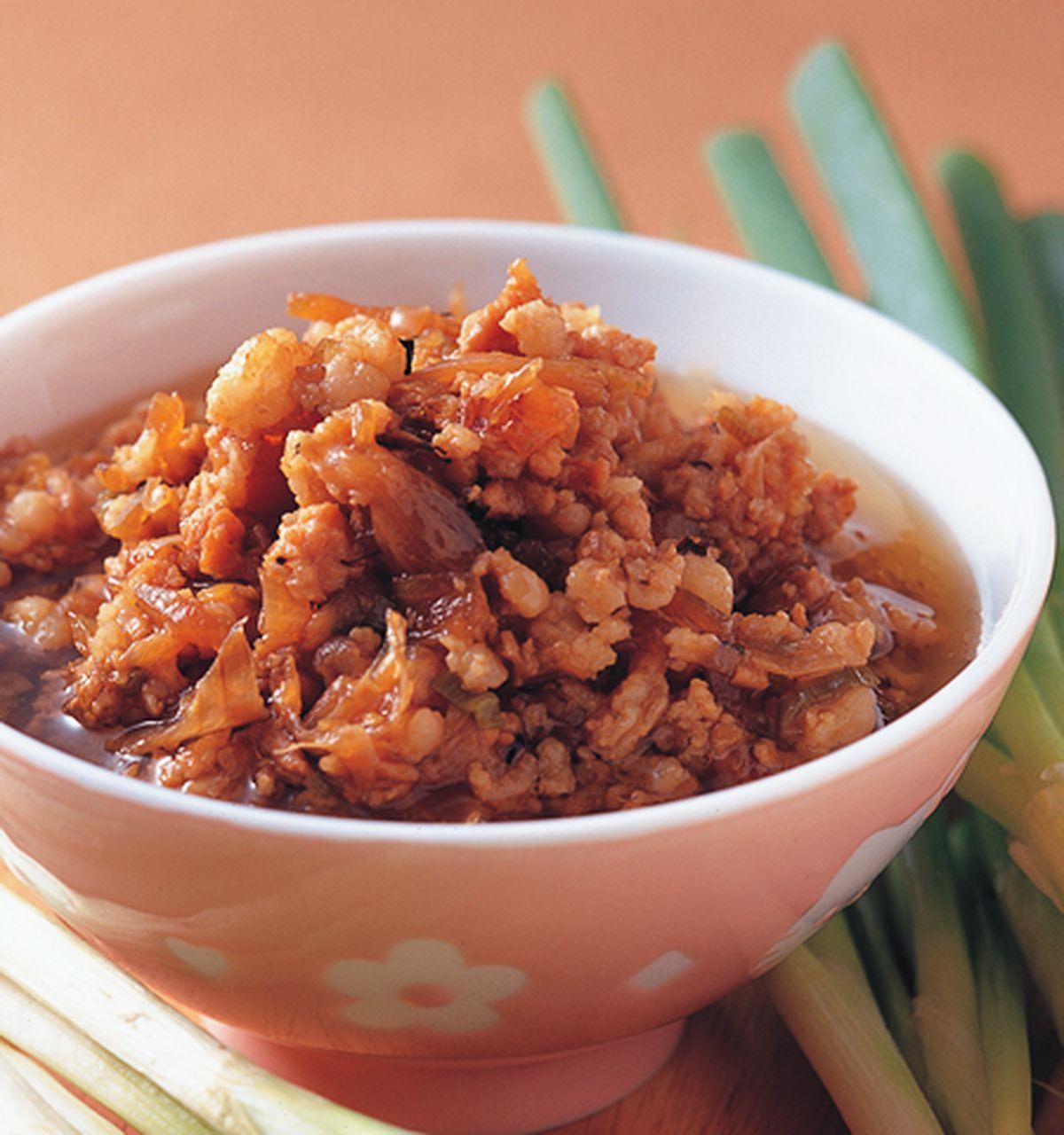 食譜:蔥燒肉燥