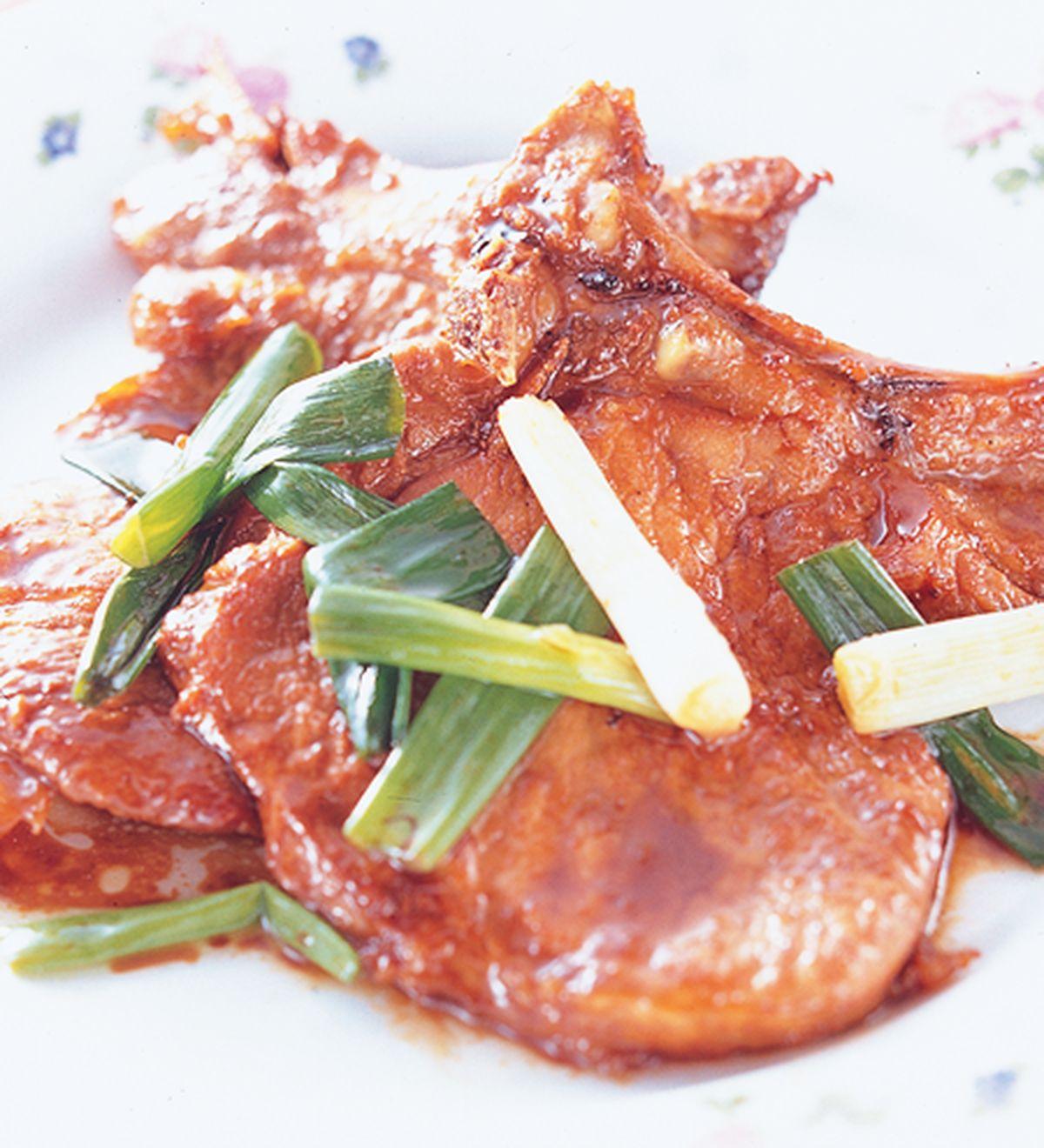 食譜:蔥燒排骨(1)