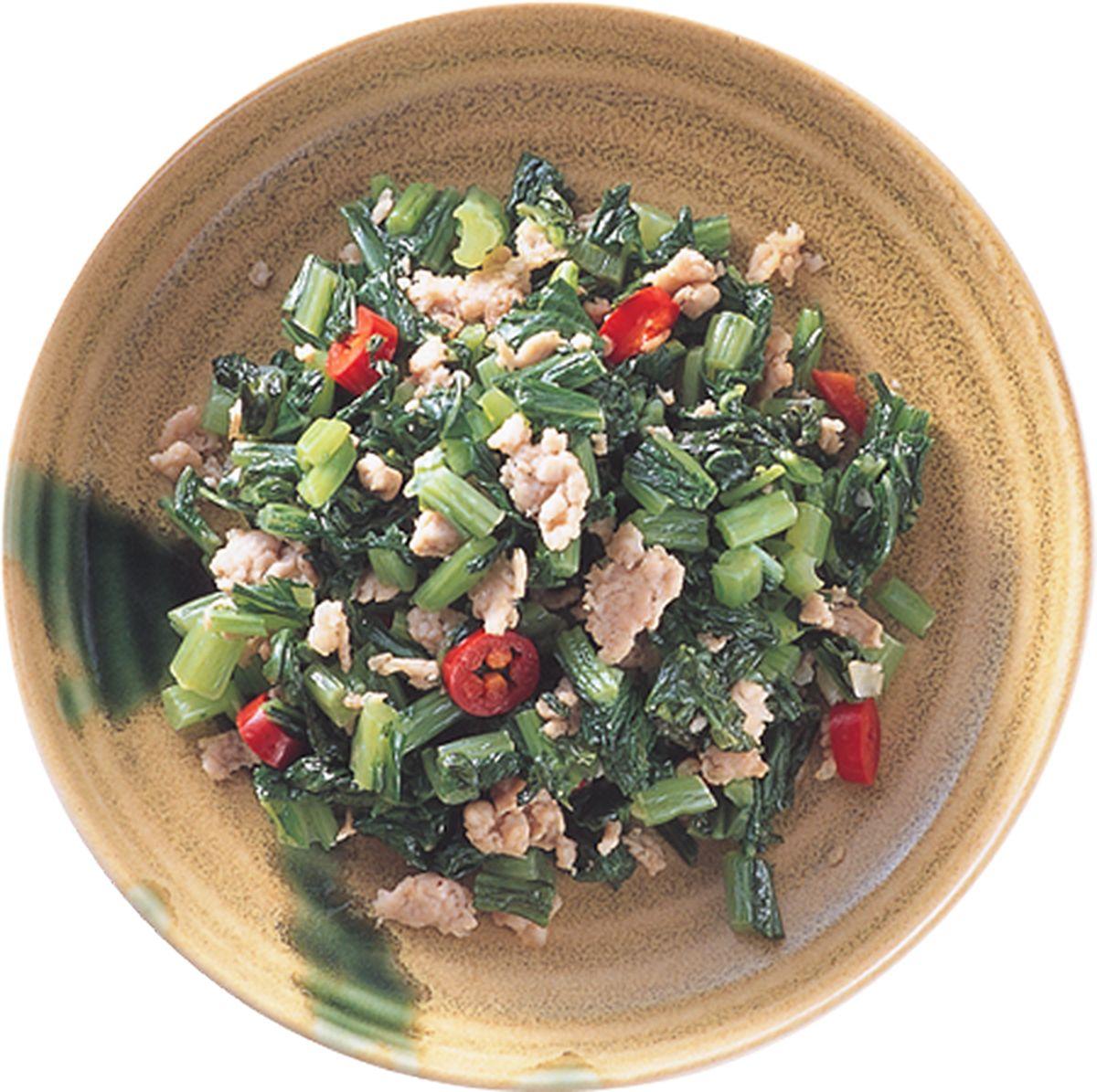 食譜:肉末雪菜