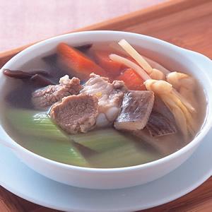 芹菜金針肉片湯