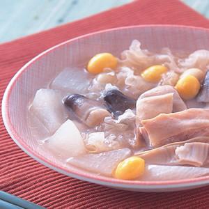 蘿蔔銀耳豬肚湯