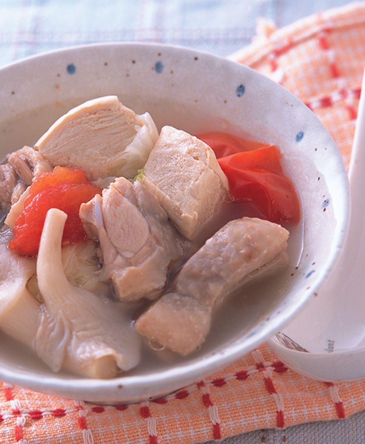 食譜:雞肉豆腐蔬菜湯