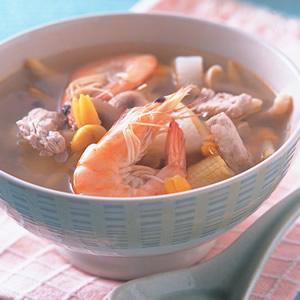 鮮蝦美顏湯