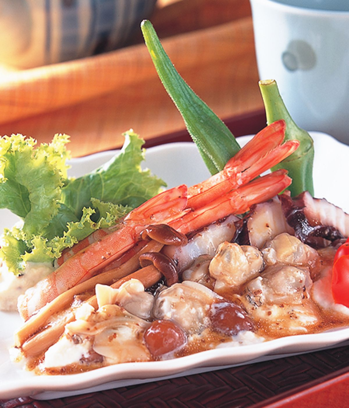 食譜:珍菇醋拌海鮮