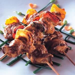 沙嗲雞肉串燒