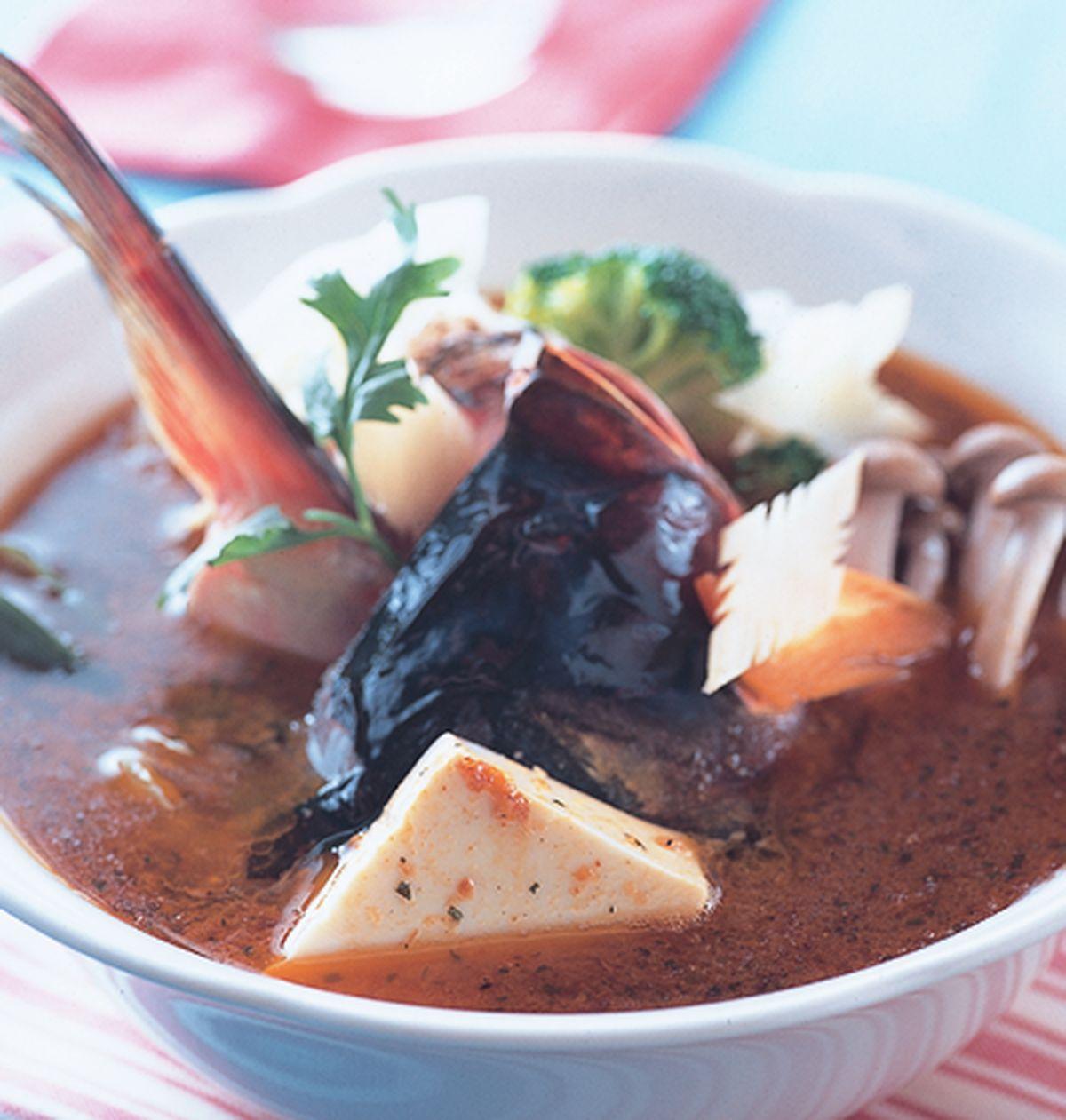 食譜:沙茶魚頭鍋