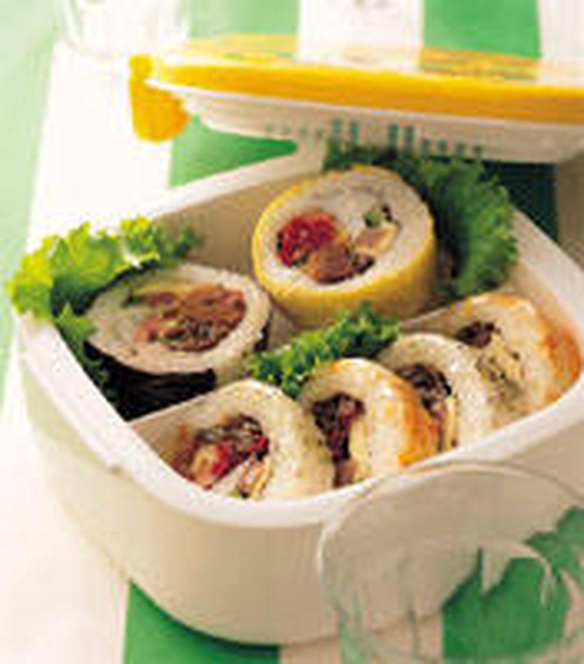 食譜:花壽司便當
