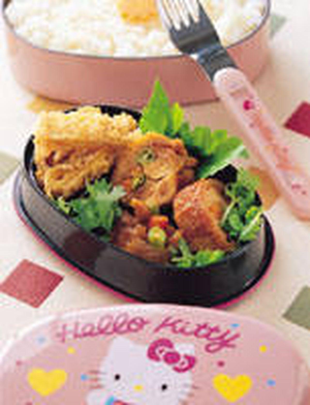 食譜:雞腿肉卷便當