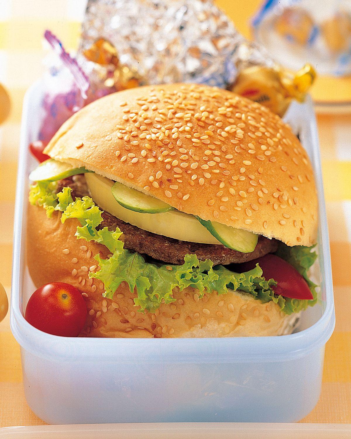 食譜:漢堡餐盒