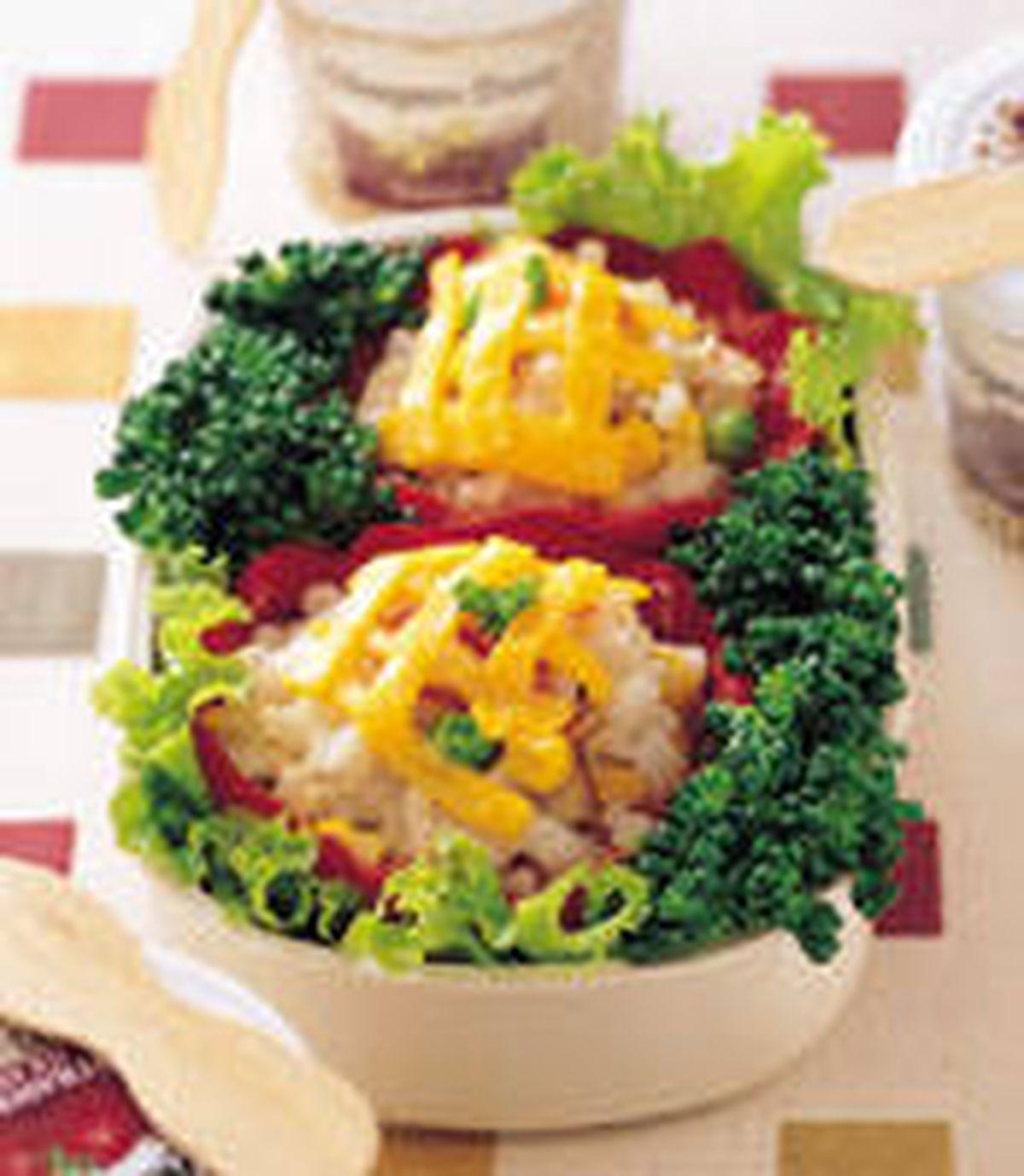 食譜:紅甜椒盅餐盒