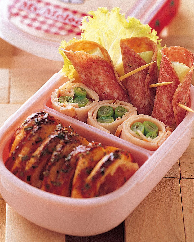 食譜:西式肉捲餐盒