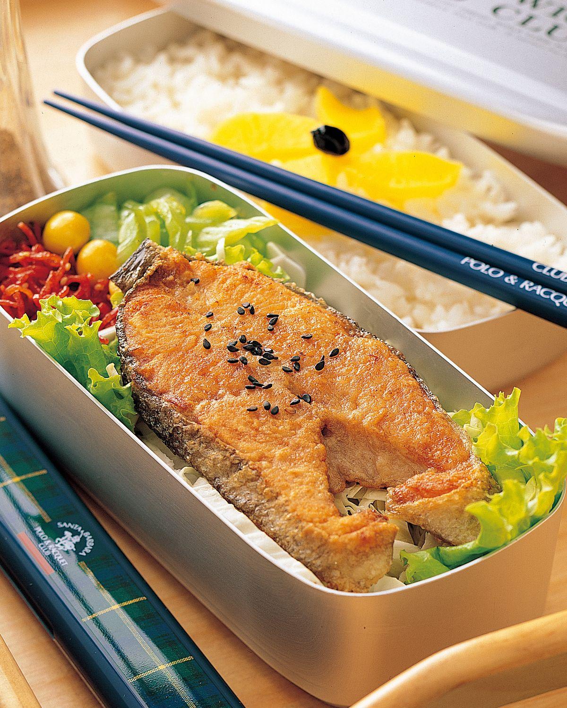 食譜:煎鮭魚排便當