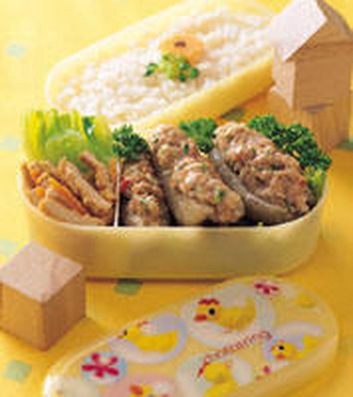 食譜:海蔘鑲肉便當