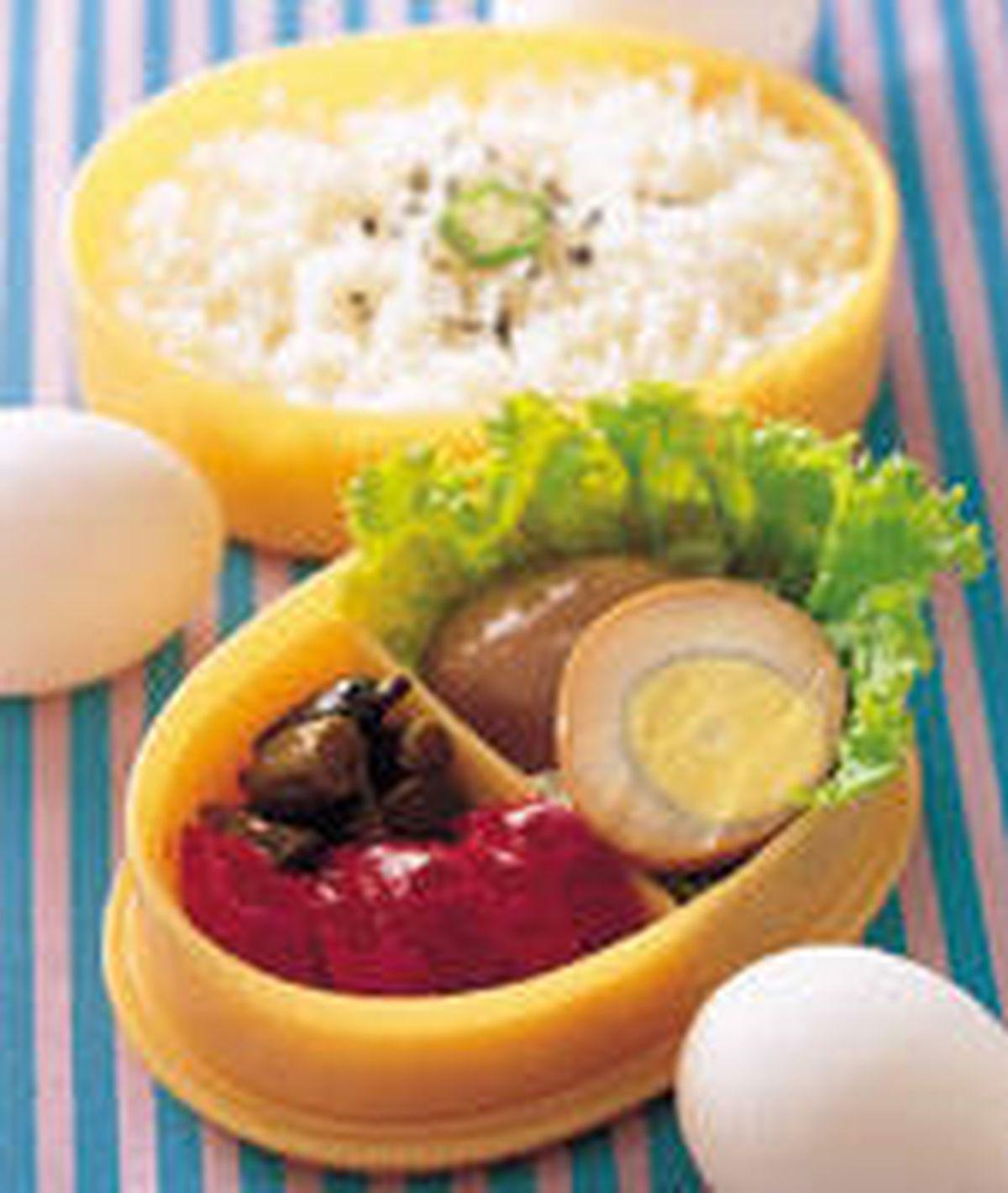 食譜:滷蛋便當