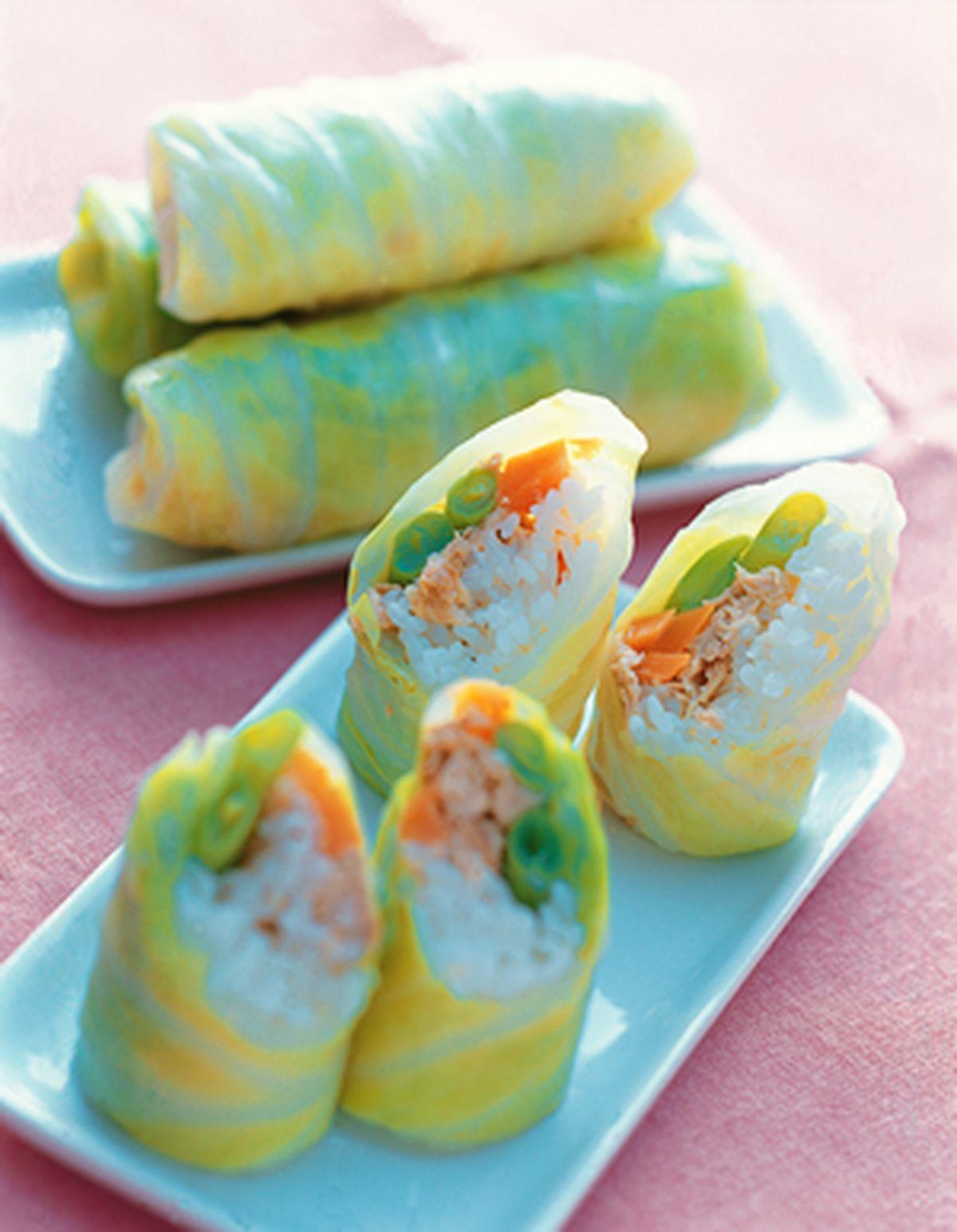 食譜:鮪魚壽司菜卷