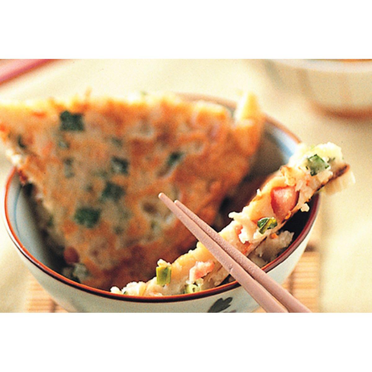 食譜:香腸韭菜餅