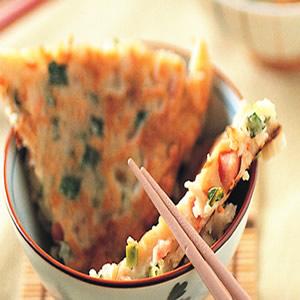 香腸韭菜餅