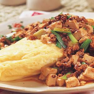 麻婆豆腐淋蛋包
