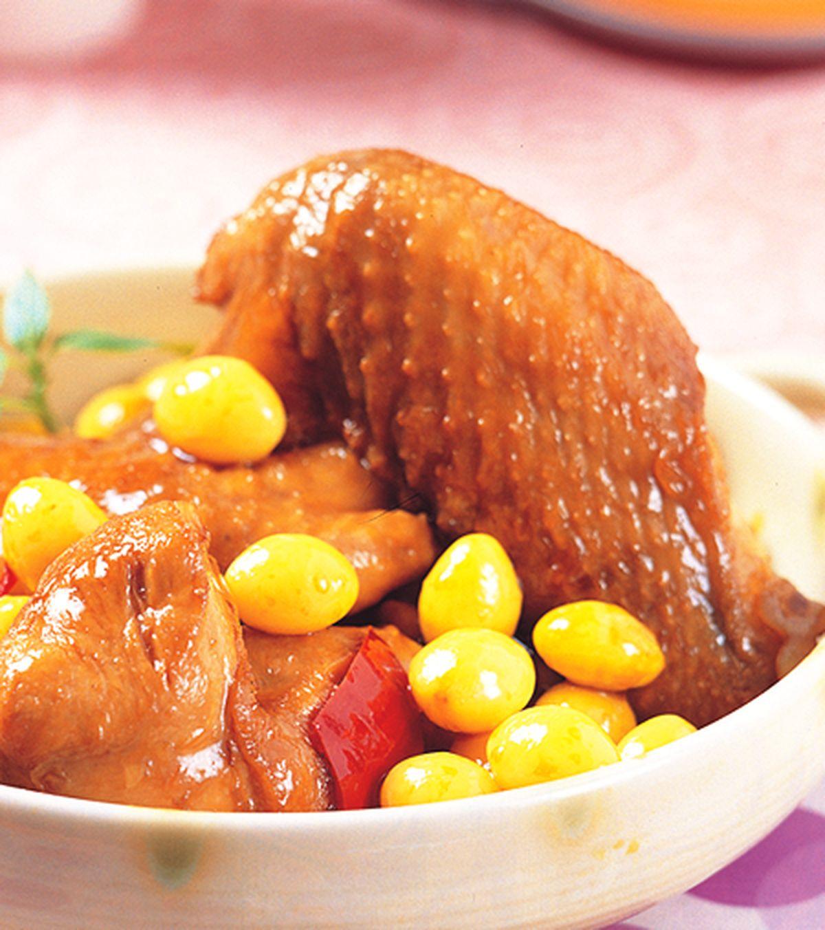 食譜:白果燒雞翅