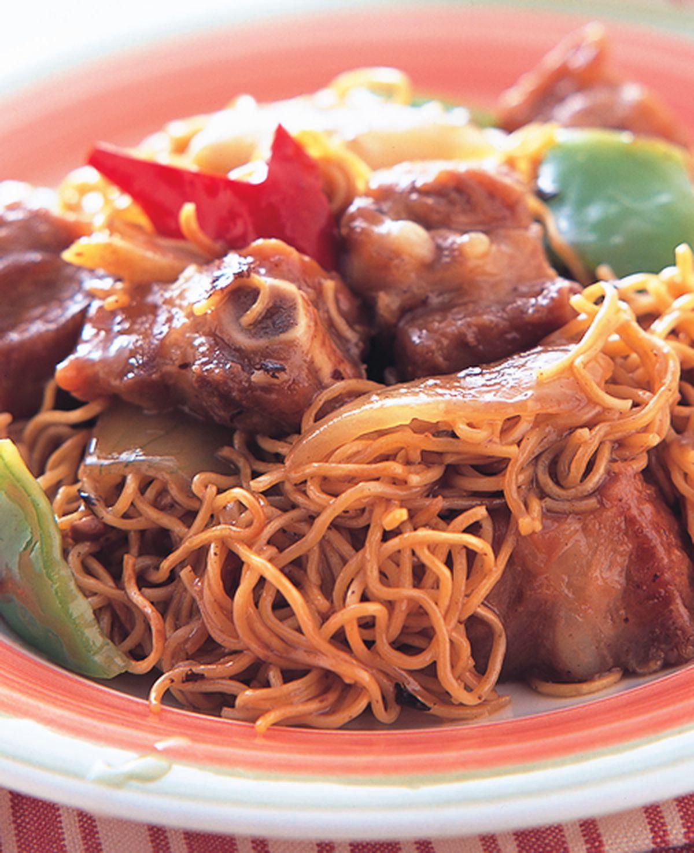 食譜:豉椒排骨炒麵