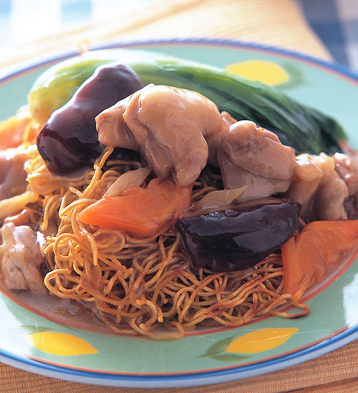 食譜:雞球炒麵