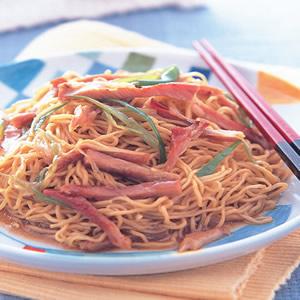 叉燒薑蔥撈麵