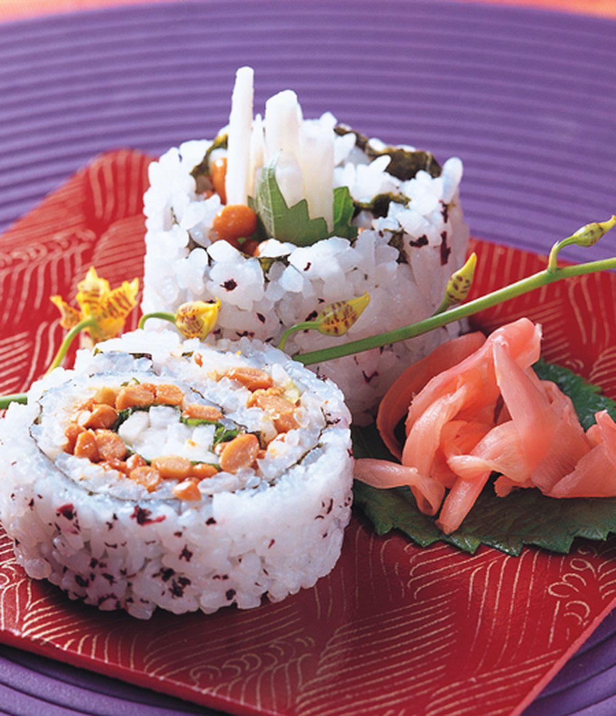 食譜:納豆山藥壽司卷