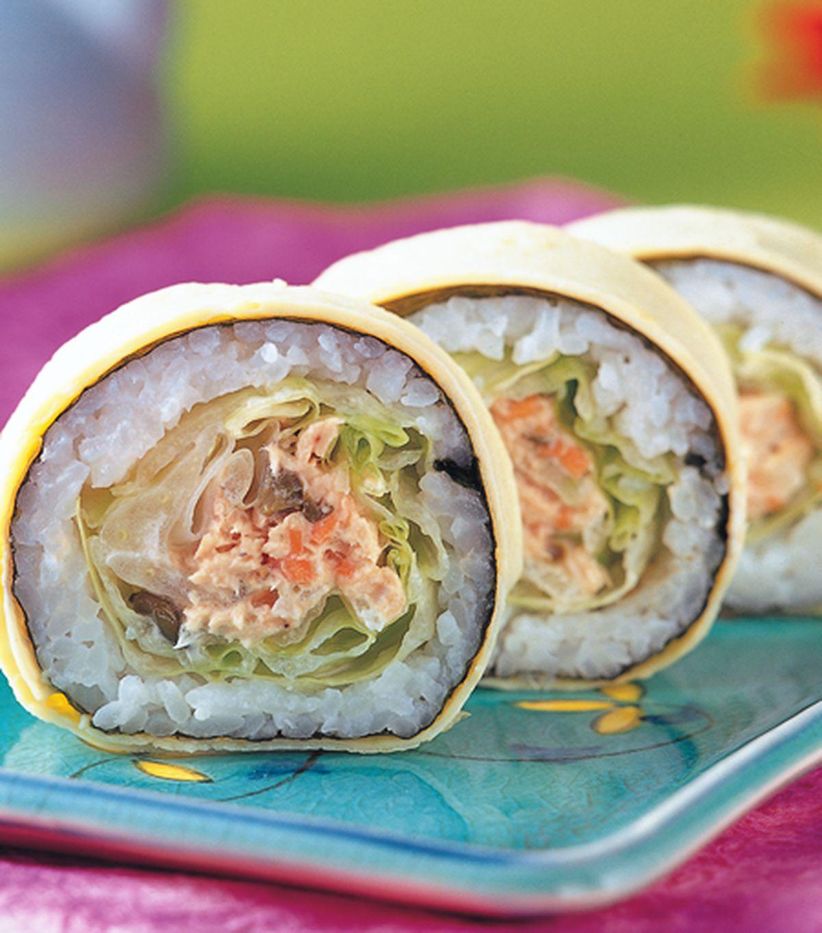 食譜:鮪魚美乃壽司卷