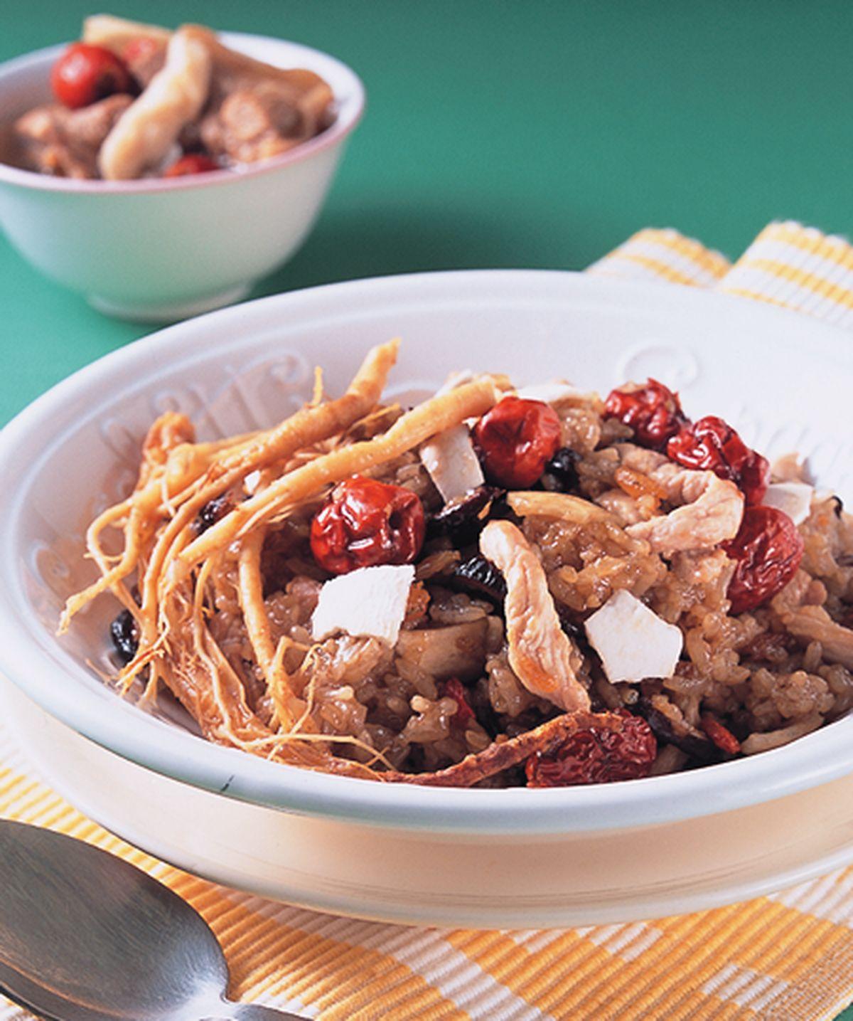 食譜:參苓糯米飯