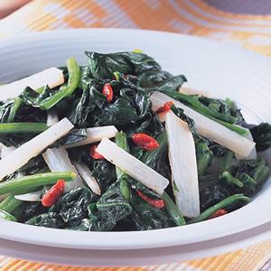 淮山枸杞炒菠菜