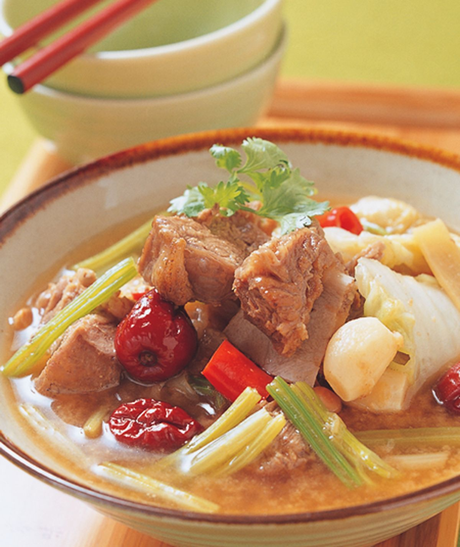 食譜:香芹羊肉鍋