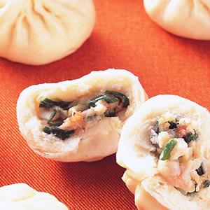 鮮蝦韭菜包