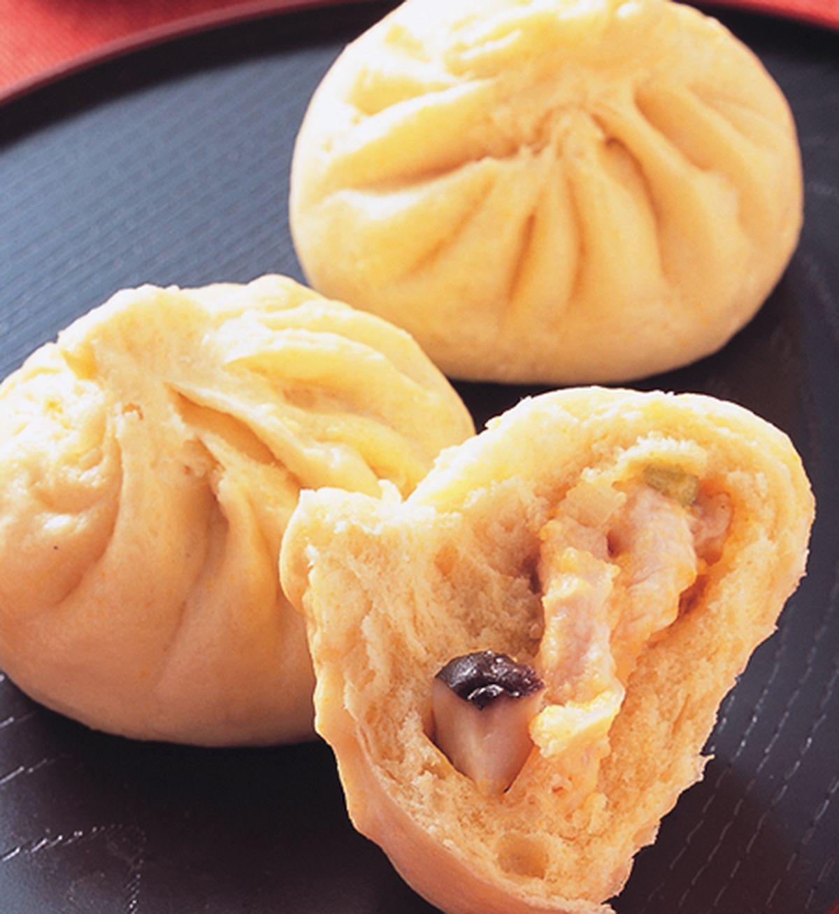 食譜:南瓜雞茸包