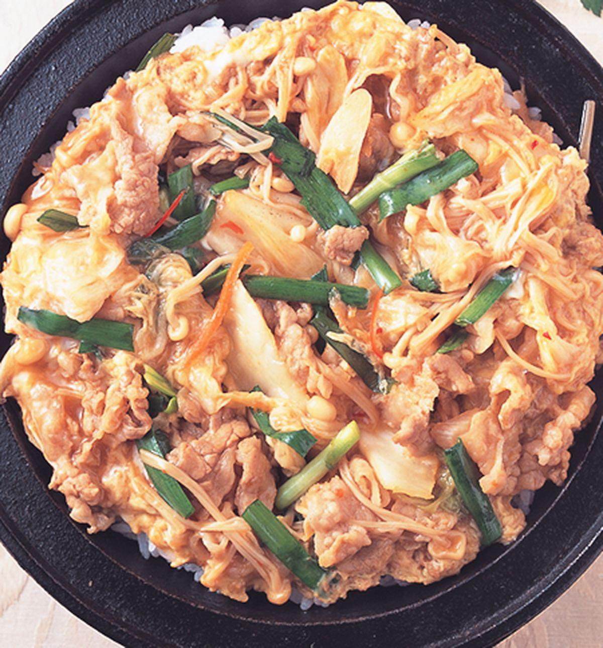 食譜:豬肉泡菜丼