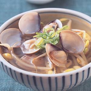 豆芽蛤蜊湯