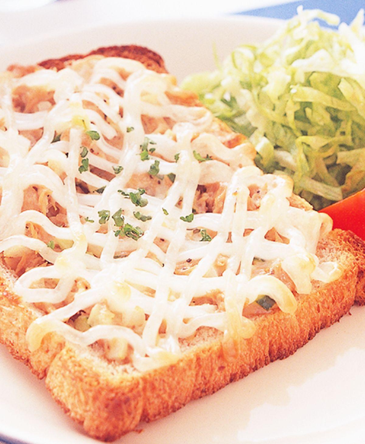 食譜:鮪魚烤土司