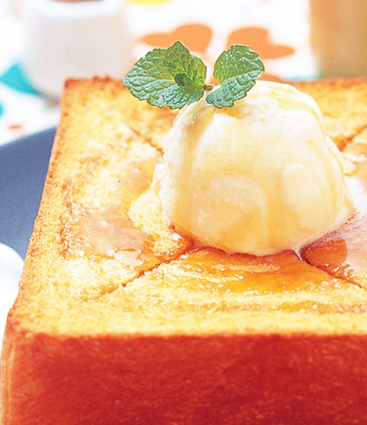 食譜:冰淇淋蜂蜜土司