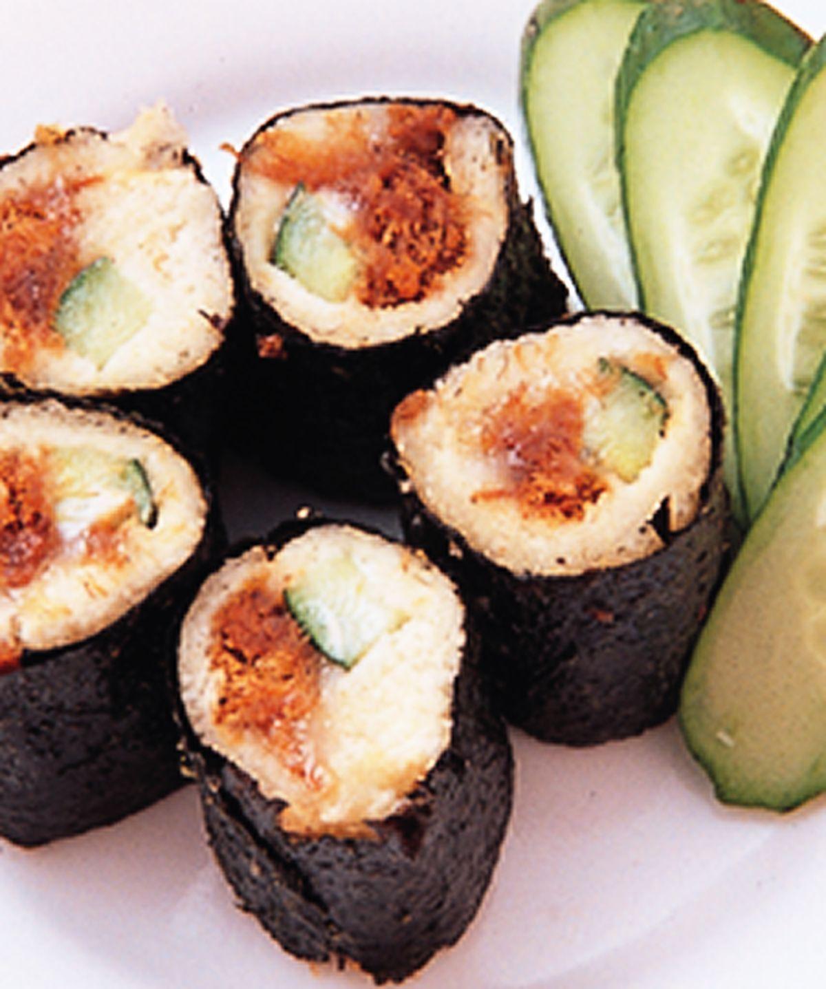 食譜:海苔土司捲