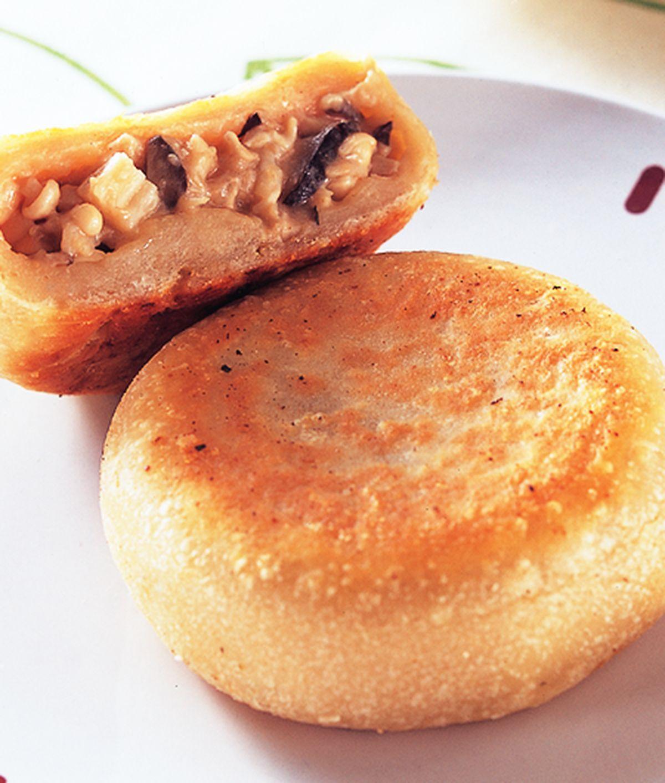 食譜:三菇餡餅