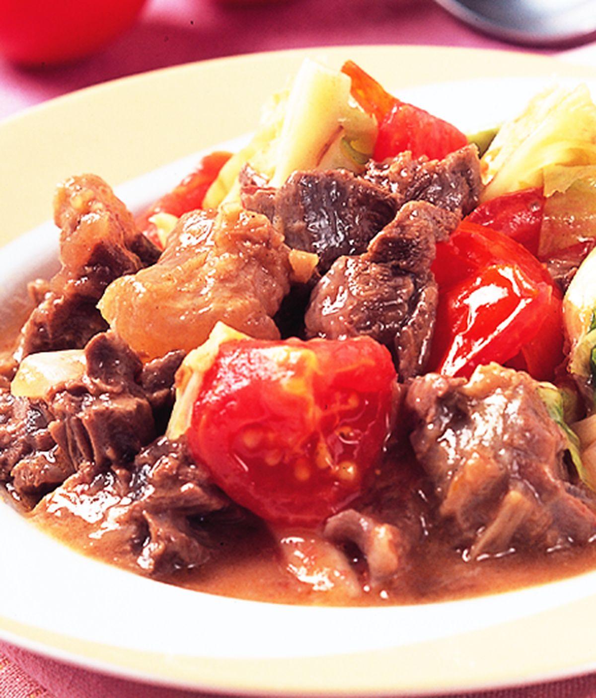 食譜:蕃茄蔬菜燉牛肉