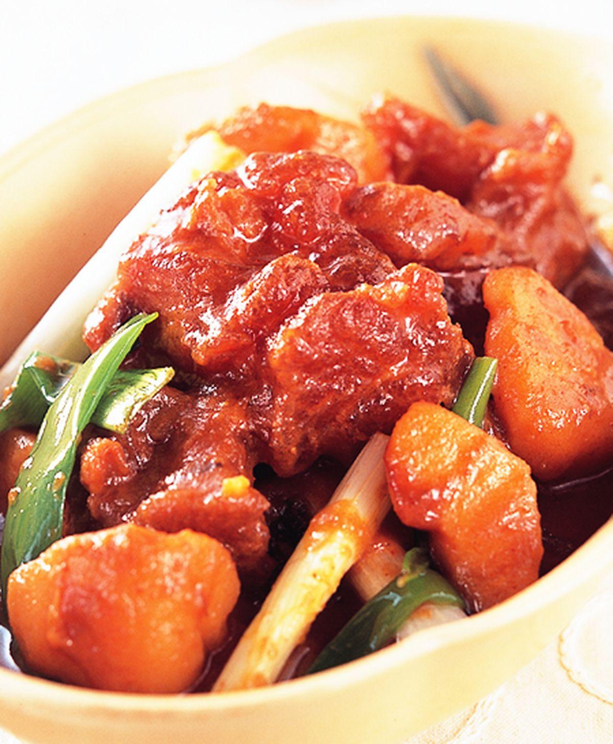 食譜:韓式辣燉牛筋