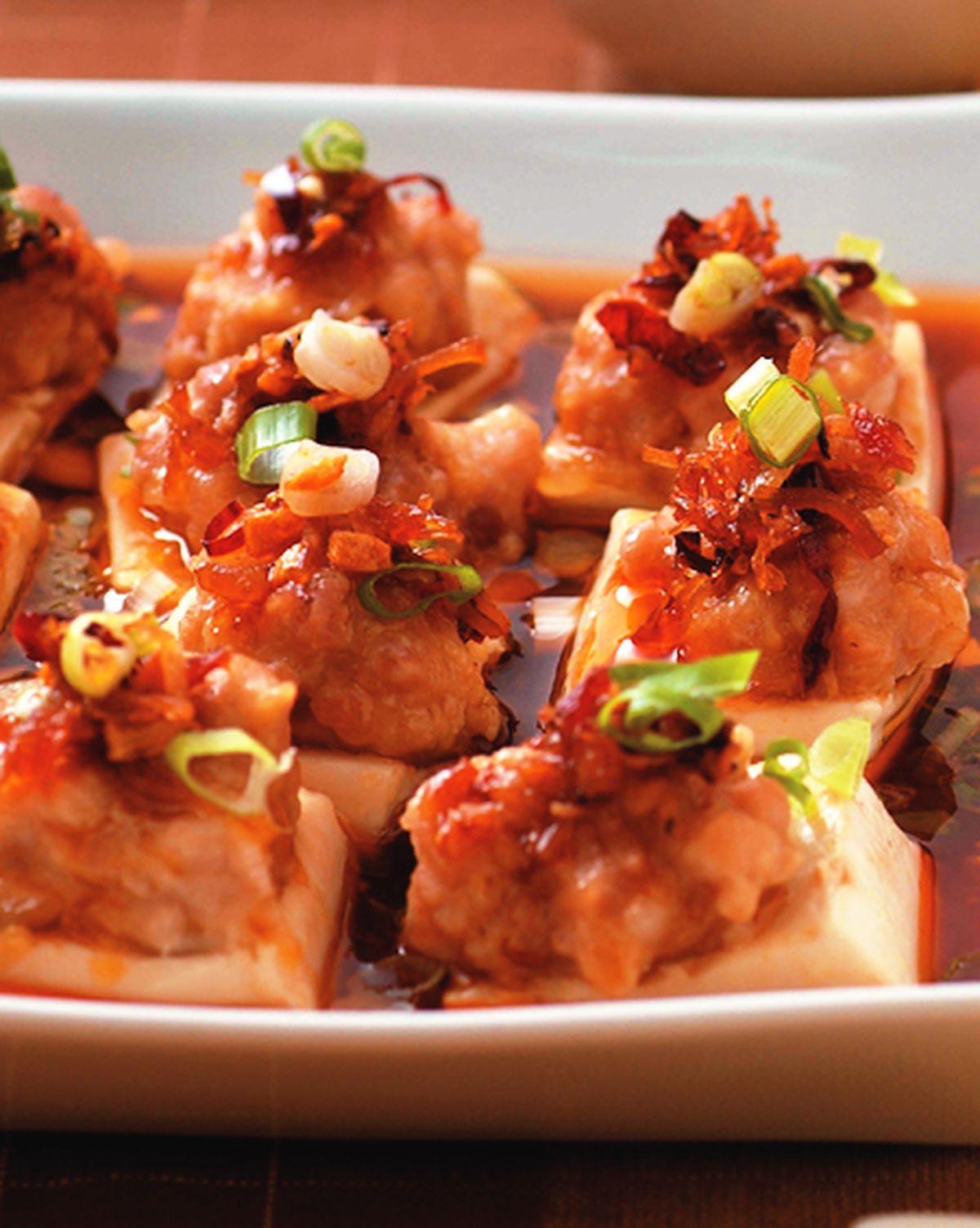 食譜:XO醬蒸百花豆腐