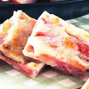 火腿磨菇煎餅