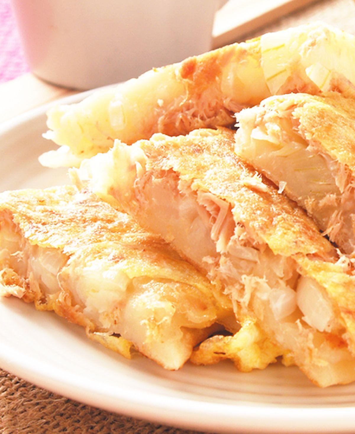 食譜:鮪魚洋蔥蛋餅