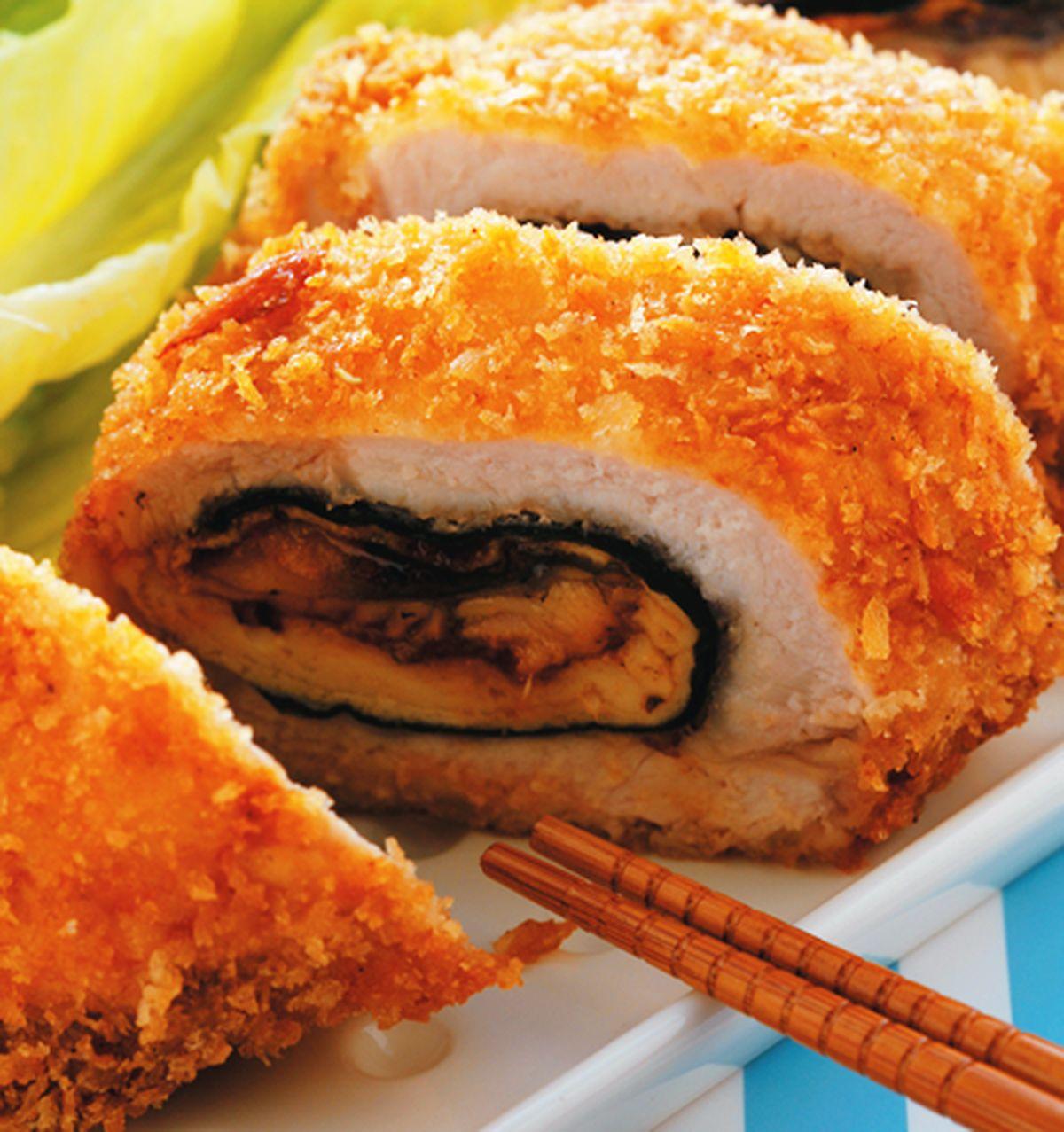 食譜:厚蛋海苔鰻魚里肌豬排