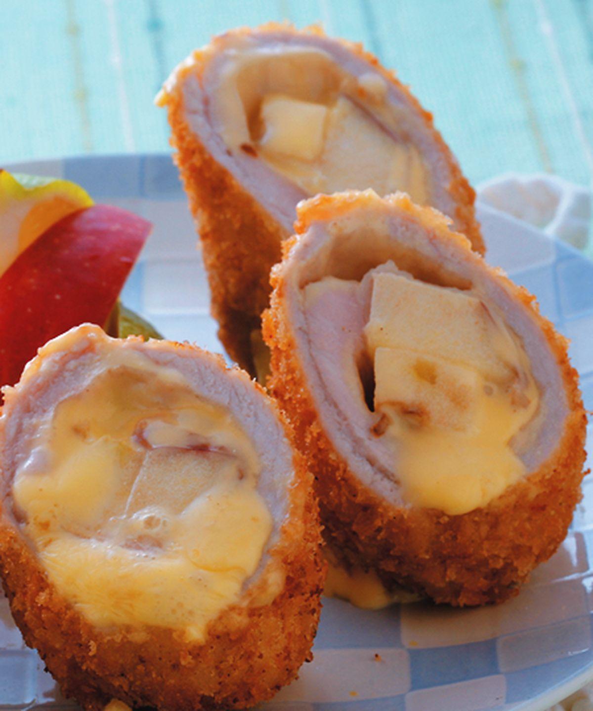 食譜:蘋果乳酪捲豬排